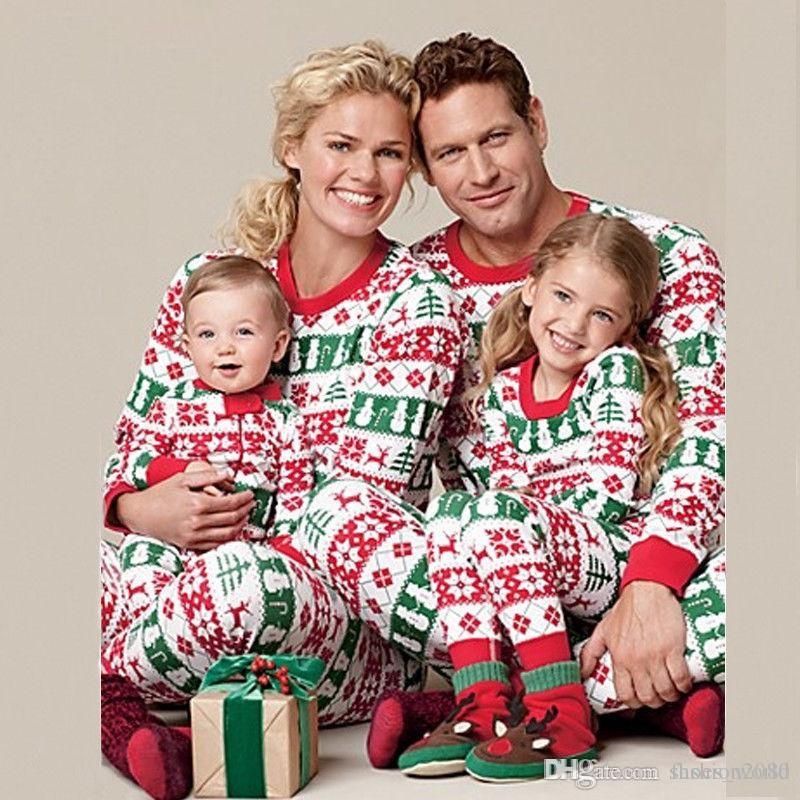 71a318ee9385 HOT! Christmas Family Matching Clothes Set Xmas Father Mother Kid ...