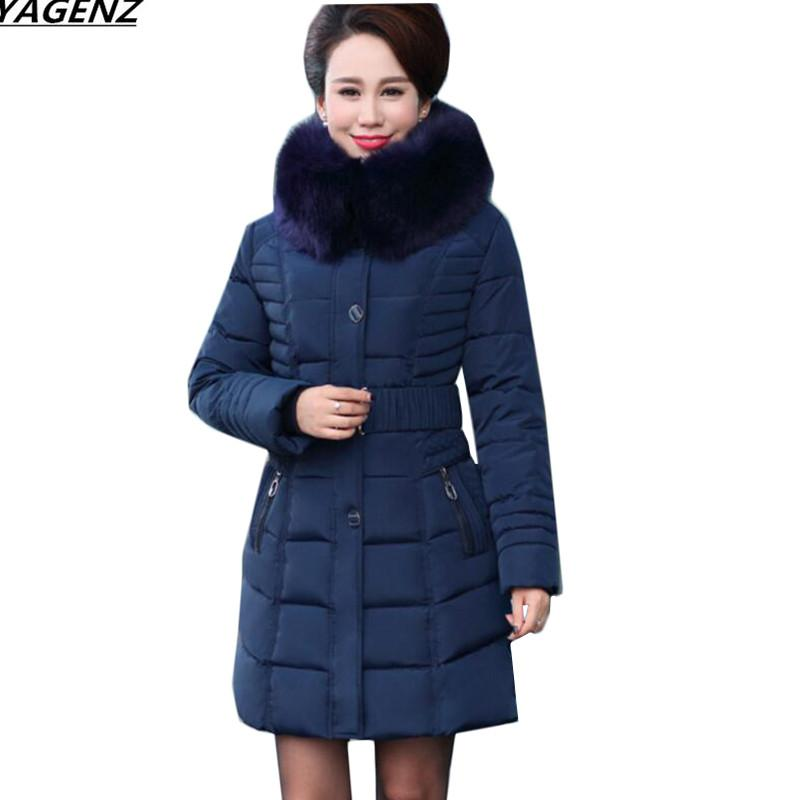 c36a7dd3c314 2019 Winter Jacket New Women Parkas Large Size 5XL Mother Clothing Thick  Warm Down Cotton Jacket Medium Long Hooded Outerwear YAGENZ From Brry, ...