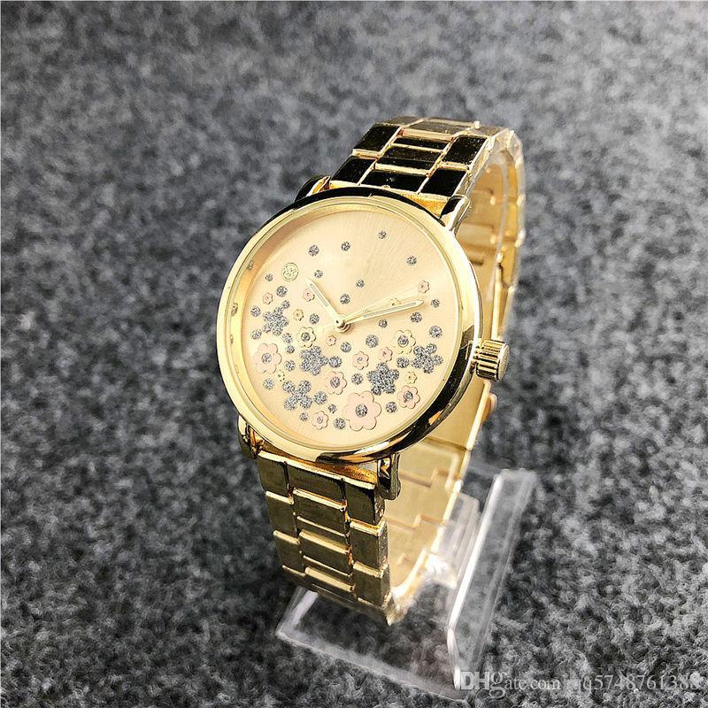 c13747b1b98 Compre Montre Femme Moda Vestido Fino Designer De Flor Senhoras Assistir  Aaa Nova Marca Relógios De Pulso De Luxo De Diamantes Mulheres Relógios  Pulseira De ...