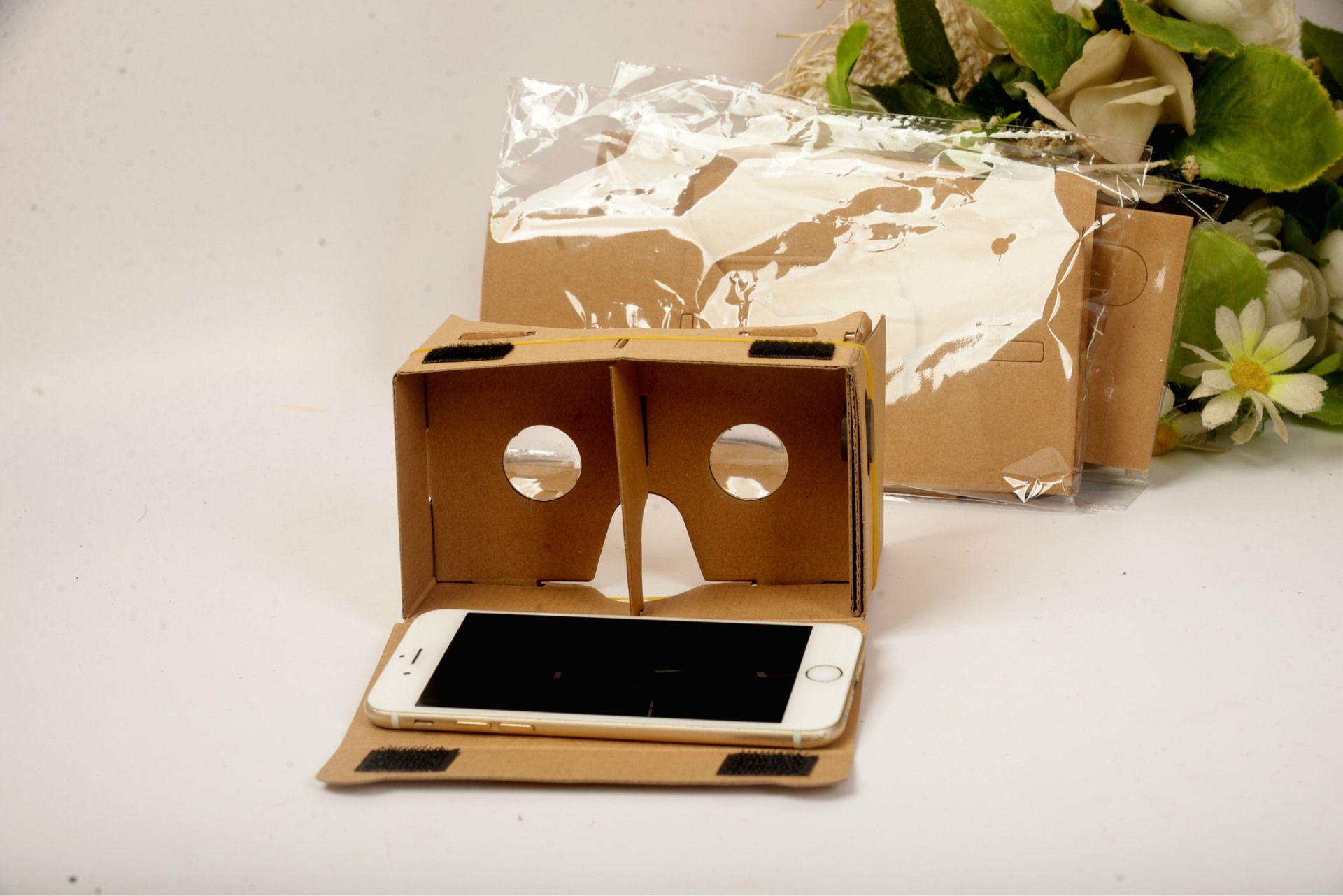 50PCS Gafas 3D VR Gafas DIY Google Cardboard Teléfono móvil Realidad virtual Cartón no oficial VR Toolkit Gafas 3D CCA1785 B-XY