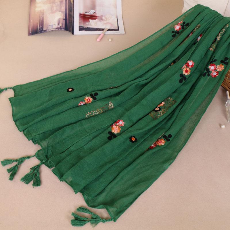 Großhandel Hohe Qualität Tücher Schal Frauen Wrap Baumwolle Leinen ...
