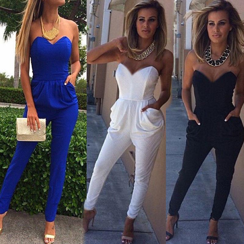 28f2e016925 Women Ladies Clubwear V Neck Playsuit Bodycon Party Jumpsuit Romper ...