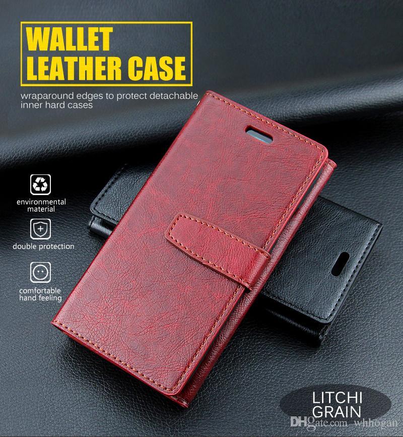Custodie Cellulare IPhone 7 8 Custodia In Pelle Portafoglio 8plus Con Porta Carte Di Credito Multi Funzionale ID Finestra Antiurto PC Cover IPhone X 8 ...