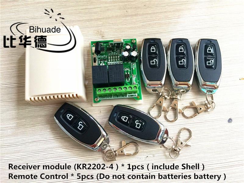 16d7c0be948 Compre 433Mhz Interruptor De Control Remoto Inalámbrico Universal AC 12V  220V 2CH Módulo De Receptor De Relé Y Controles Remotos RF 433 Mhz A  23.61  Del ...