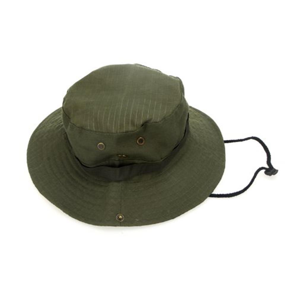 5ccdb1dfacf 2019 Super Sell Outdoor Fishing Camping Hiking Sun Cap Round Rim Men Women  HatDark Green From Peniss