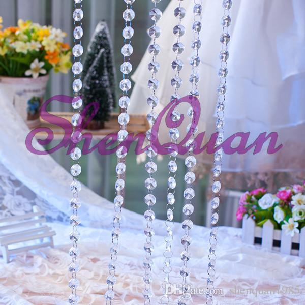 200 m / lote, frete grátis bela acryli bead cortina para a decoração da ocasião do casamento, cortina de contas, peça central do casamento