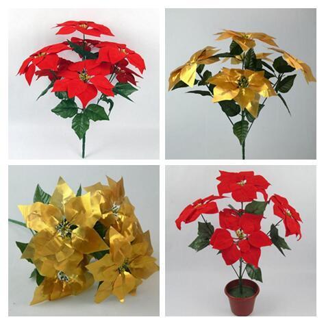 2019 197 Fake Artificial Flowers Poinsettia Euphorbia Pulcherrima