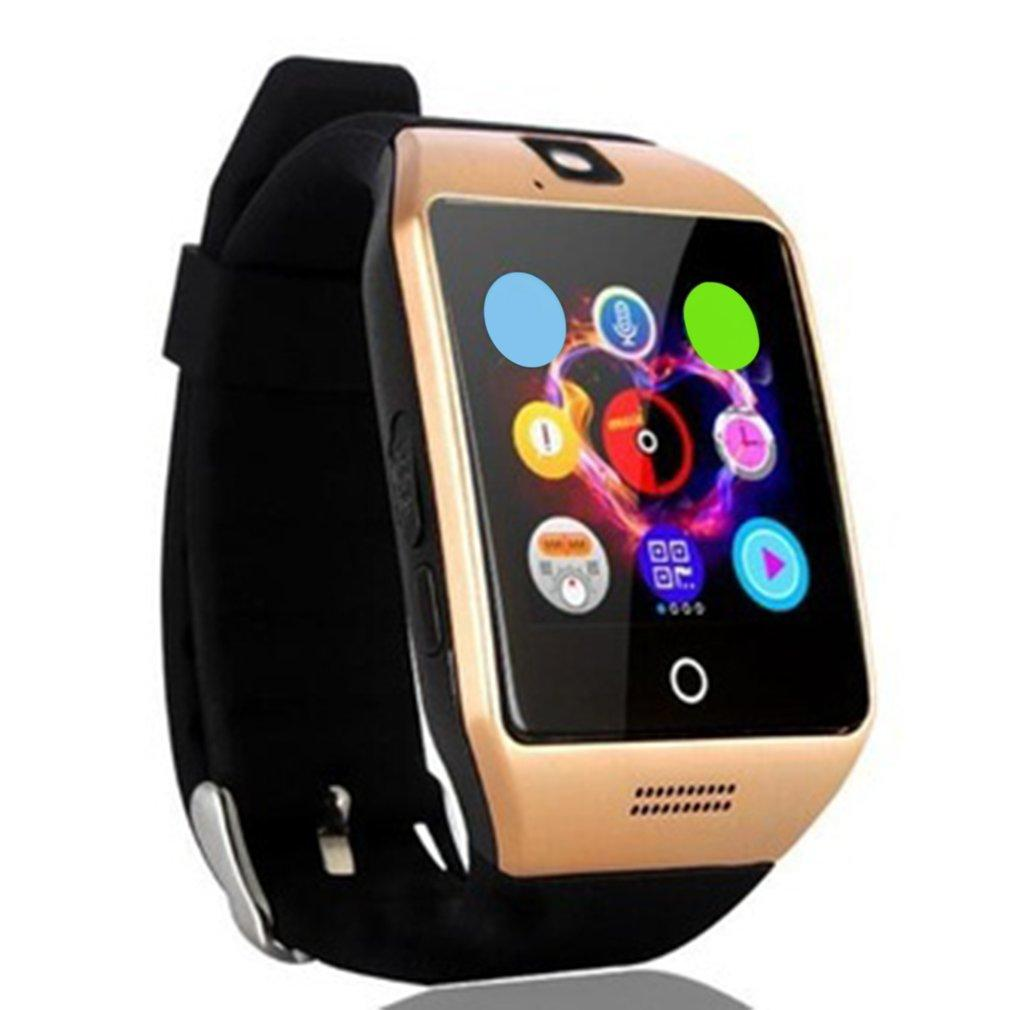 Smartch NFC Smart Uhr Q18S Arc Uhr Mit Sim TF Karte Bluetooth Verbindung für iphone Android Phone Smartwatch PK GV18 APRO