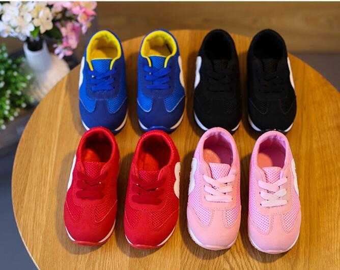 Christmas New arrival Spring and autumn M Mesh Breathable baby Toddler shoes children's running shoes black pink red grils boys sneakers