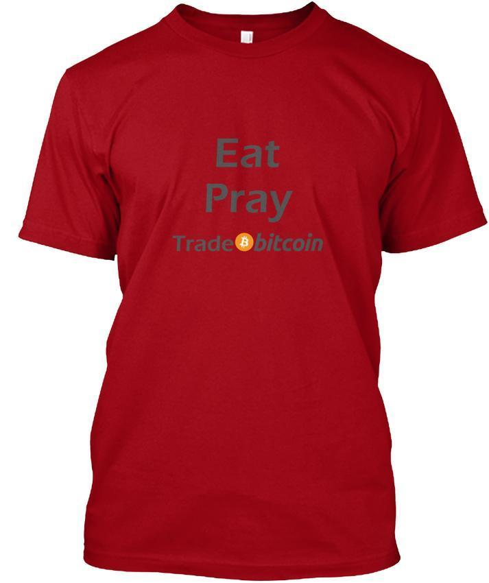 Eat Pray Trade Bitcoin Hombres Prem popular Camiseta sin etiqueta Tee