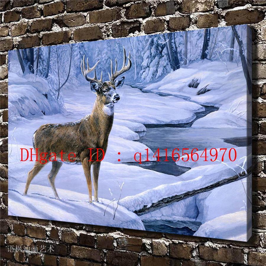 2019 Animal Deer HuntingCanvas Prints Wall Art Oil Painting Home Decor 16x24 12x18 Unframed Framed From Q1416564970 769