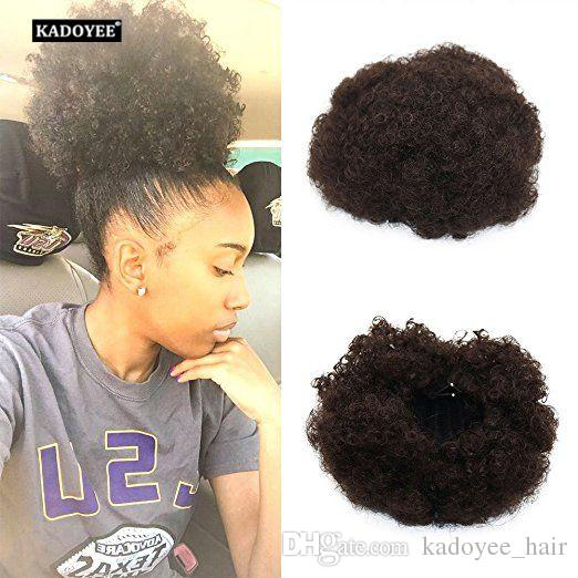 Synthetic Hair Afro Chignon For Kids Small Children Girl Kinky Curly