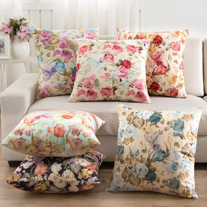 Outstanding Flowers Cushions Cover Home Decor Pillows New Signature Cotton Cecorative Throw Pillows Decor Pillow C Alphanode Cool Chair Designs And Ideas Alphanodeonline