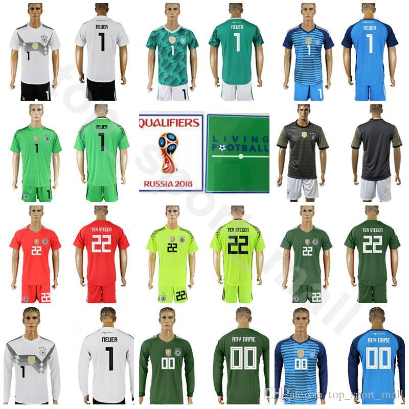 2019 Goalkeeper Germany Jersey Set 2018 World Cup Soccer 1 Manuel Neuer  Football Shirt Kits 22 TER STEGEN TRAPP 1 Oliver Kahn Custom Name Number  From ... 58276a11c