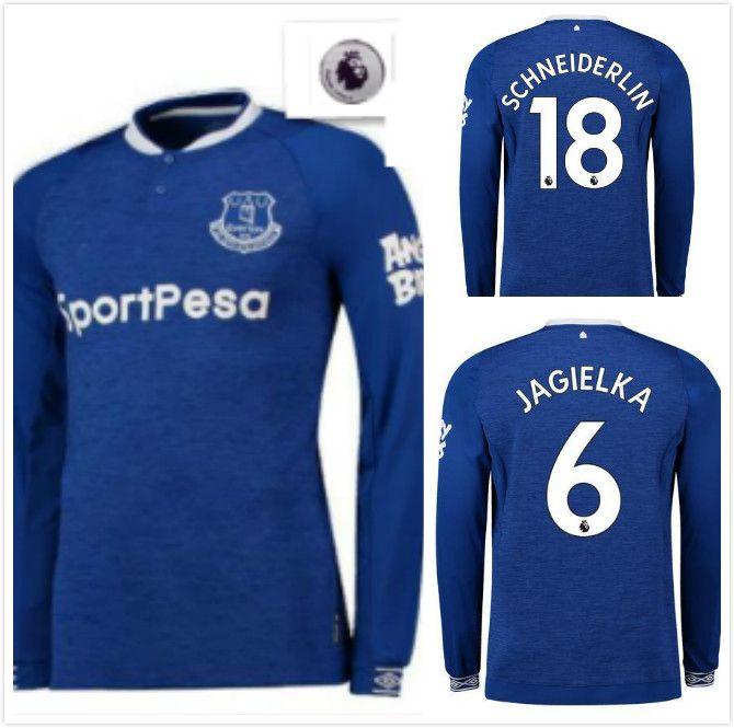 Everton Home Long Sleeve Soccer Jersey 18 19 Blue ROONEY DIGNE RICHARLISON  KEANE Walcott 2018 2019 Shirt CENK TOSUN Football Uniform JAGIELK UK 2019  From ... a0b5a8d2e