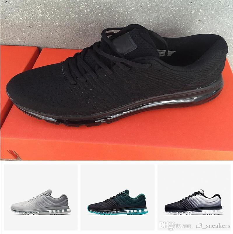 los angeles 4019e 7fee1 Großhandel Nike Air Max 2017 Großhandel 2018 Heißer Verkauf Hohe Qualität  Mesh Knit Sportbekleidung Männer Frauen 2017 Freizeitschuhe Günstige Men  Schuhe ...