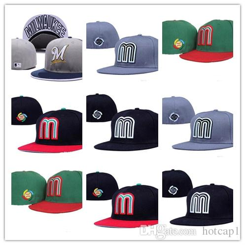 Cheap Mlb Mexico Baseball Fitted Cap For Men Baseball Cap Outdoor