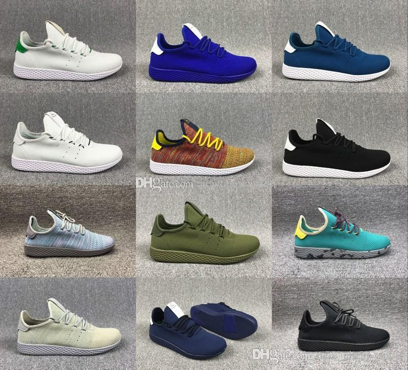 wholesale dealer ce0b1 2f0f5 New Arrive Pharrell Williams X Stan Smith Tennis HU Primeknit Men Women  Running Shoes Sneaker Breathable Runner Sports Shoes EUR 36 45 Men Shoes  Online Best ...
