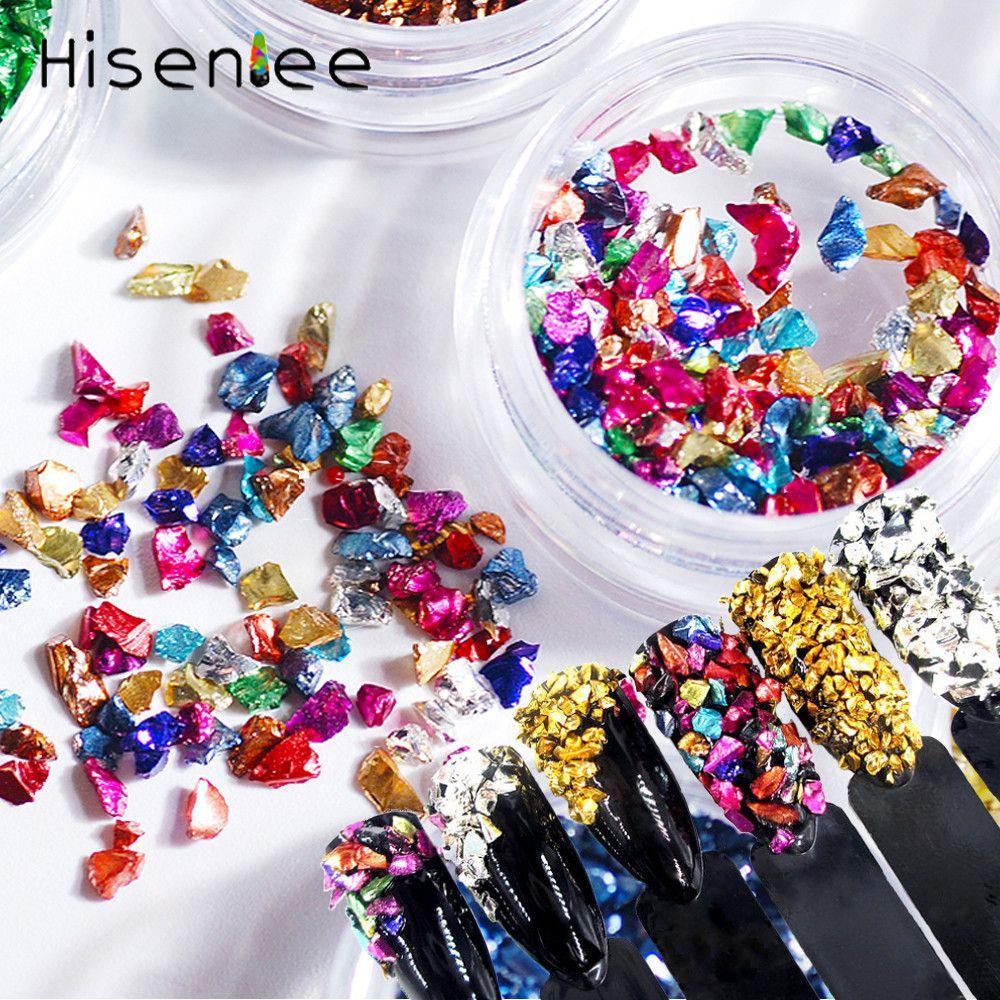 bcb3b3bfba23 Hisenlee 1 Caja Colorida Cristal Roto Irregular Cuentas de Piedras Pedrería  para Uñas 3D Nail Art Gems Decoraciones Piedras para Uñas