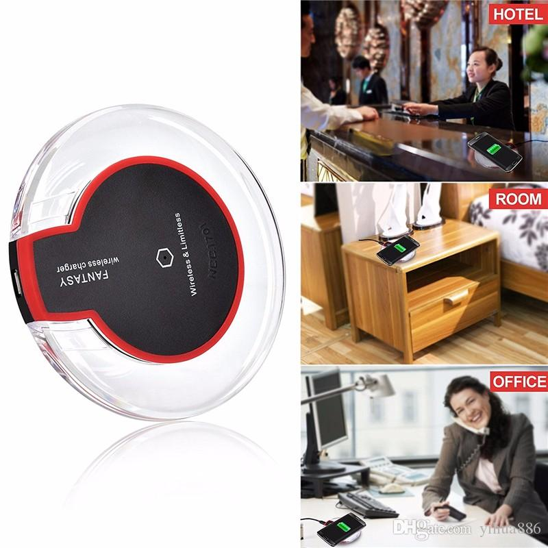 Qi Pad chargeur sans fil Crystal Fantasy avec lumière LED pour Samsung S6 / S6 Edge / S7 S8 S8 PLUS avec boîte d'emballage de vente au détail