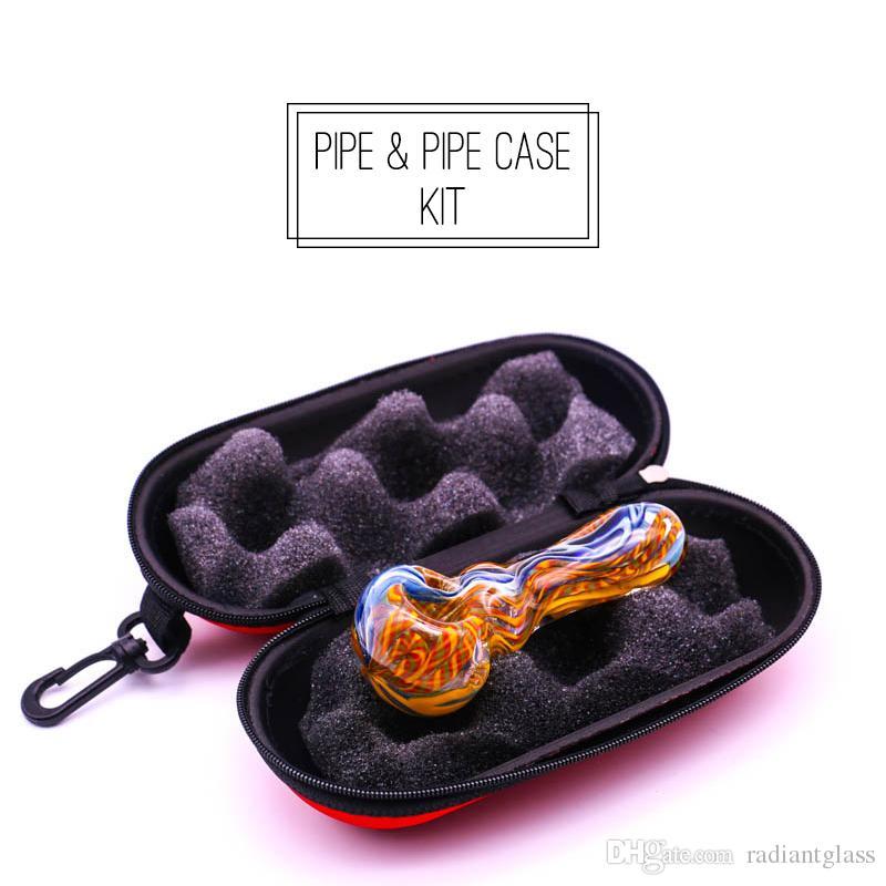 y hecha a mano de vidrio soplado pipa de fumar Fabricación a mano, tubo de cuchara 4