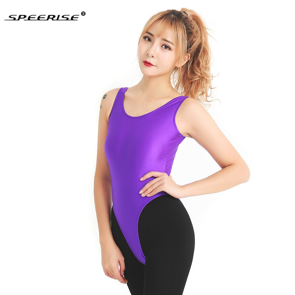 da8fb129e1 2019 SPEERISE New Adult Leotards Ballet Dance Wear Women Costumes  Sleeveless Solid Tank Thong Leotard Female Unitard Gymnastics From  Goodly3128