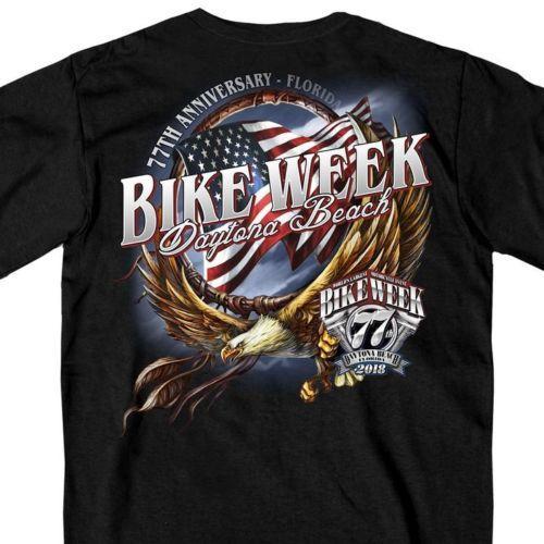 ac3dd57b480 Satın Al Yeni Harley Davidson T Shirt Büyük Bisikletçinin Erkekler Bisiklet  Haftası Yarış Siyah 45XL A62