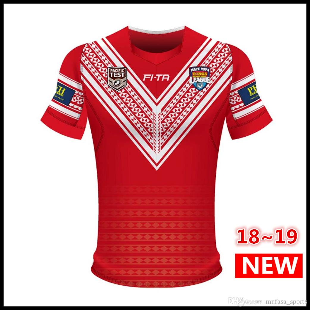 Best Quality Tonga 2018 Pacific Test Jersey Rugby League Shirt TONGA Rugby  Jerseys Shirts S-3XL Shirts Rugby Jersey Online with  21.31 Piece on ... 55aa96a16