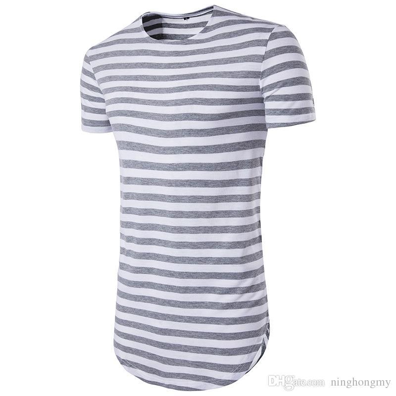 Marca all'ingrosso YWSNHMY Tyga Harajuku Hip Hop T Shirt uomo a righe manica corta t-shirt oversize streetwear uomini skate tee shirts canottiera