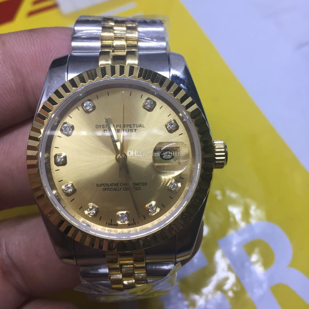 Compre Rose Gold Men Geneva Watch Steel Roman Dial Aaa Womens Luxury Brand  Fecha Automática Del Día De La Mujer Moda Para Hombre Relojes De Pulsera  Reloj A ... 8234ee773cf7