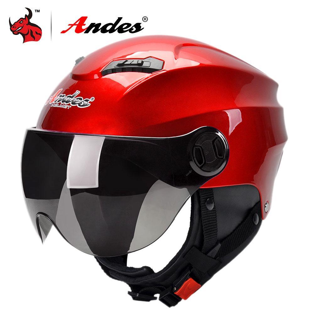 d91d03d6b8a1c Andes Motorcycle Helmet 3 4 Open Face Moto Helmets Scooter Men Women Biker  Motorbike Casque Moto Casco Helmet Motorcycle Red Exclusive Motorcycle  Helmets ...