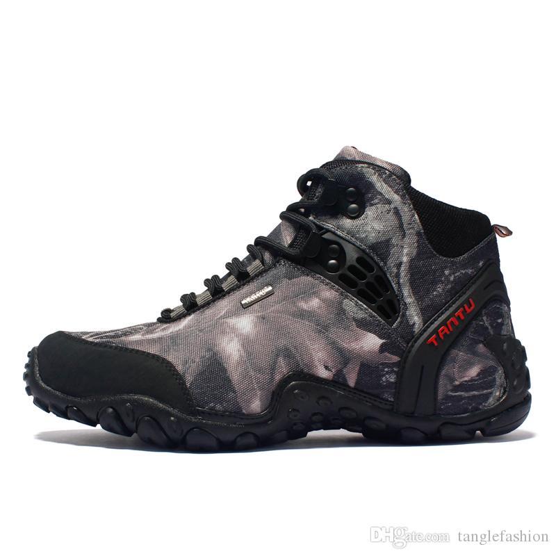 c7286a2ea Compre Botas De Senderismo Impermeables De Los Hombres Altos Al Aire Libre  Moda Al Aire Libre Calzado Deportivo Camuflaje Trekking Zapatos Para  Caminar ...