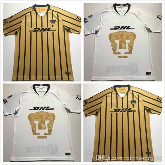 bea4606eb1 1 2018 2019 Mexico Club UNAM Soccer Jerseys Home Away Rabello Van ...
