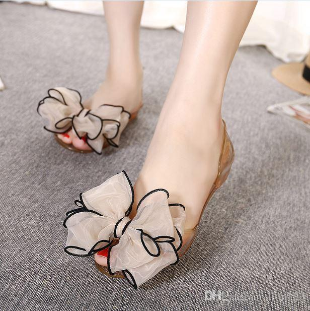 26be193f5bc58a Fashion Spring And Summer Transparent Resin Crystal Bow Bling ...