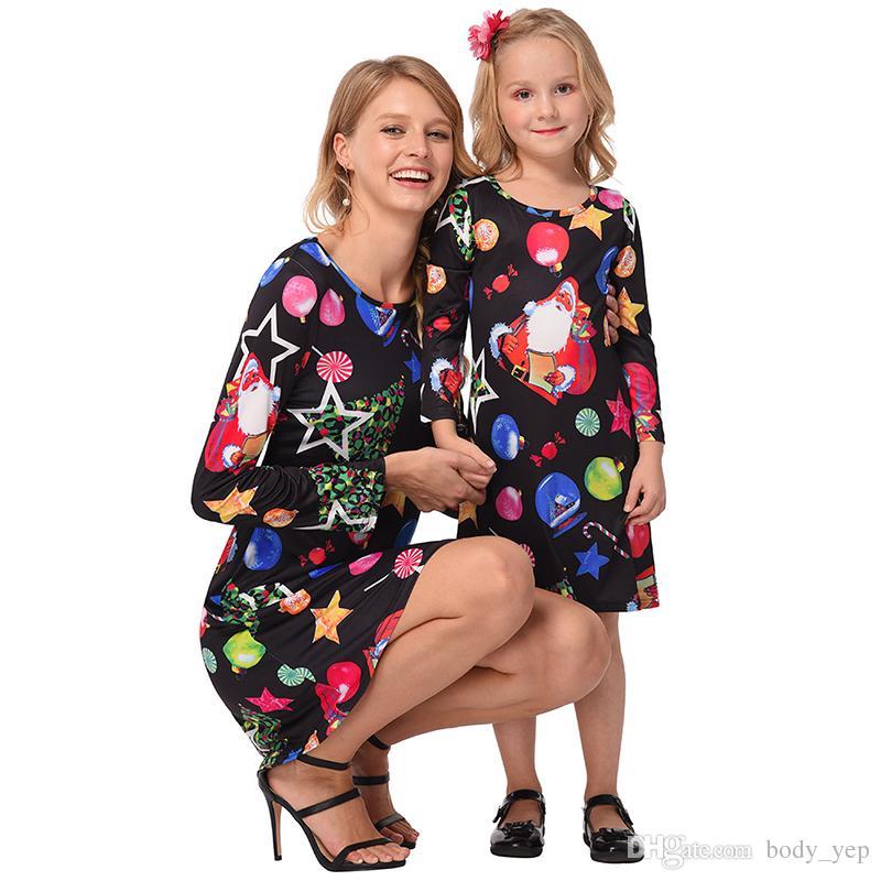 mommy and me christmas dress mother daughter dresses family cotume mother daughter christmas santa kids parent child dress little black dress prom dress