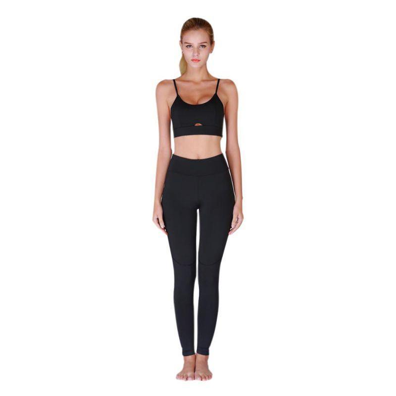 8f9949ea02 2019 Women Soild Colors Fitness Yoga Set Pink Solid Crop Top+Long Pant  Women Suit Gym Sports Bra+Legging Two Piece Set Sportswear From Bdsports
