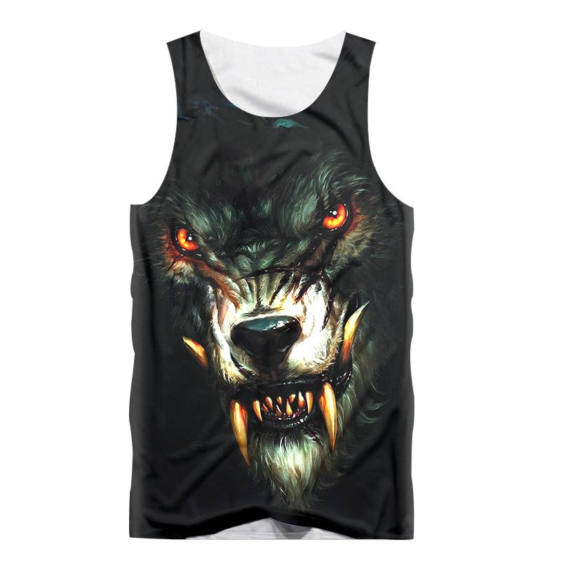 31270312e6340 2019 Fashion Funny Animal Vest Movie Wolf 3D Print Sexy Men Tank Top  Sleeveless Shirt Fitness Bodybuilding Undershirt Tees Tanktop From Yanmai