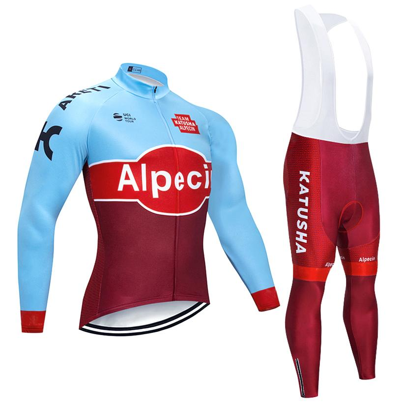 d022da517 2019 KATUSHA TEAM Winter Cycling Jersey Bike Clothing Set Ropa Ciclismo  Invierno Thermal Fleece Bicycle Jersey 9D Gel Pad Bib Pants Kit Cycling  Jacket ...