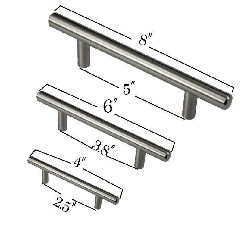2018 4 6 8 Stainless Steel T Bar Pull Hardware Drawer Kitchen Cabinet Door Handles From Hogane 22 12 Dhgate Com
