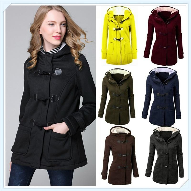 588529ceb94 2019 2018 Top Brand Women S Fashion Jacket Double Breasted Wool Casual Coat  Hoodies Autumn Winter Girl Warm Plus Size S 5XL CL042 From Bluemoon66