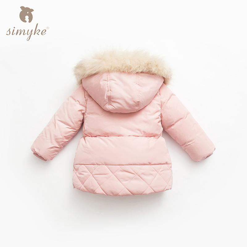 Simyke Kızlar Kışlık Mont 2017New Çocuk Sıcak Dış Giyim Çocuklar Polar Kız Toddler Kız Parkı Çocuk Marka Giyim G3810 için Ceketler