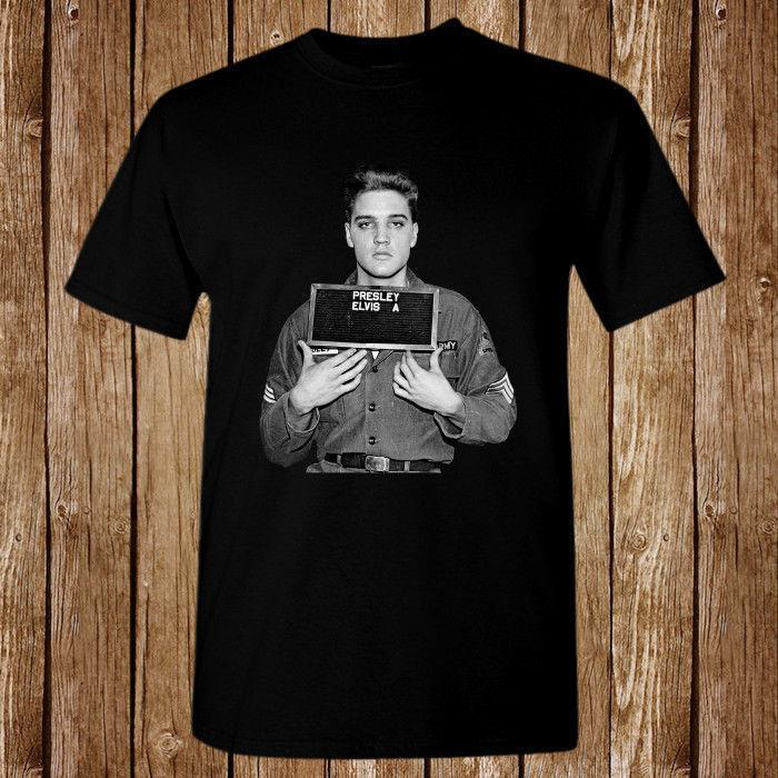 3be6688688c Elvis Presley Mugshot Size S 5XL T Shirt T Shirt Shirt Designs T Shirt Shop  Design From Amesion2509