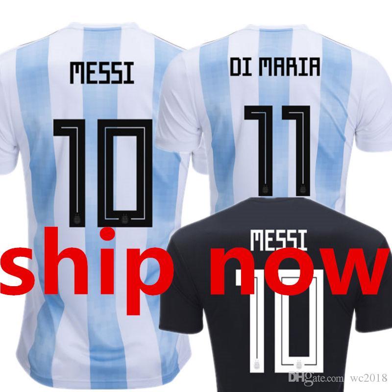 Argentina Soccer Jersey MESSI World Cup 2018 2019 DI MARIA Camisetas ... cd9081c3b