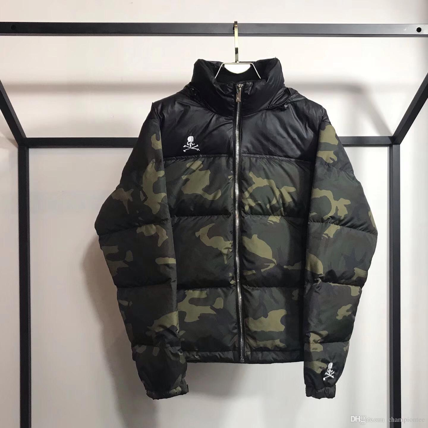 a7924f6335553 2019 Brand Cooperation Mastermind World Down Jacket Fashion Windproof Thick  Outerwear Winter Down Jacket Black Camo From Championtee, $124.88 |  DHgate.Com