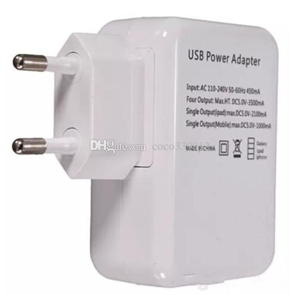 3.1A 15W 빠른 충전 4 USB 포트 유 미국 벽면 충전기 ipad 아이폰 7 8 휴대용 여행 충전기 전원 어댑터 삼성