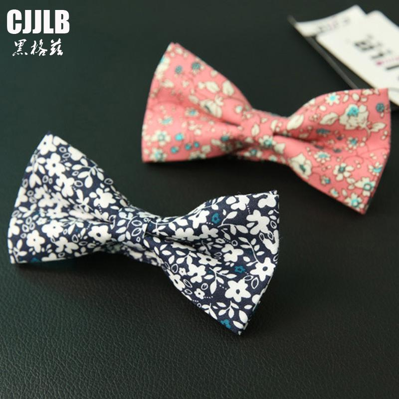 afa313442d00 Men's Bow Tie Floral Bowtie Male Rustic Vintage Casual Business Wedding  Bowknot Dot Flower Bow Ties For Groom Party Accessories
