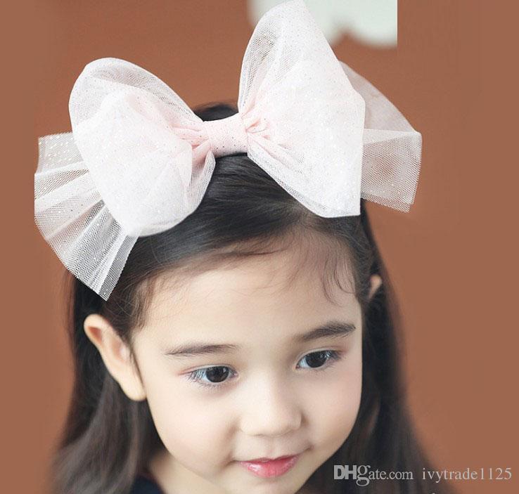 Christmas style baby girl Hair hoop baby kids Bow Voile cartoon modeling Hair hoop Children Headwear Kids Girls Baby Hair Accessory