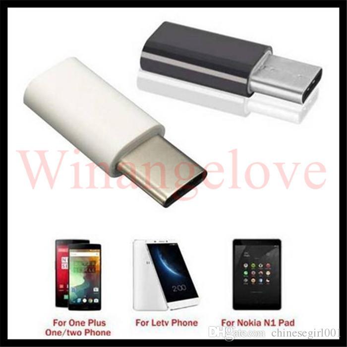 Micro USB hembra a tipo C Typc c Cable macho USB 3.1 Adaptador Cargador de sincronización de datos para Macbook Samsung Note 7 OnePlus