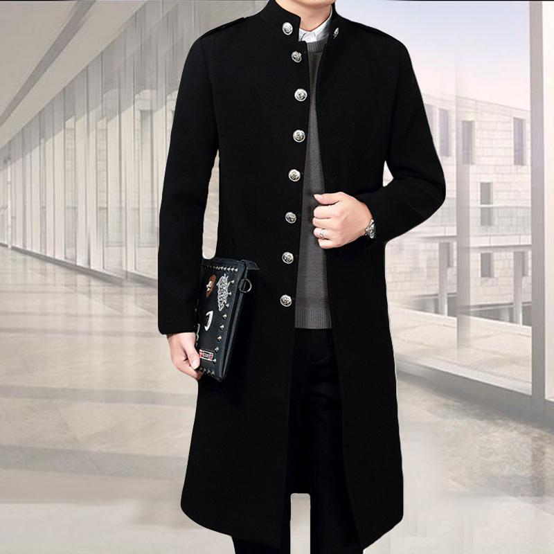 301d1c747fc1d 2018 New Arrival Male Korean Style Long Knee Extension Stand Collar Men  Coat Jacket Super Large Boy Clothes Winter Warm Size M 4xl C18110901 From  Shen8407