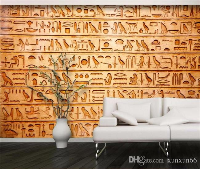 Custom Photo Wallpapers HD birds Egyptian relief murals TV backdrop living room bedroom sofa backdrop mural wallpaper